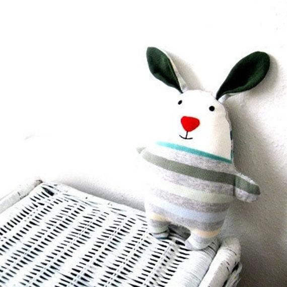Rag doll rabbit bunny PDF sewing pattern tutorial soft softie plush plushie