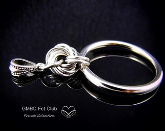 Discreet Day Collar Pendant - Steel Mobius O Ring  - Choose Your O Ring & Bail (Chain not included)