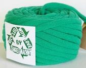 Recycled T-Shirt Yarn, Tee Yarn, Green/Aquamarine Green 29 Yards, T Yarn