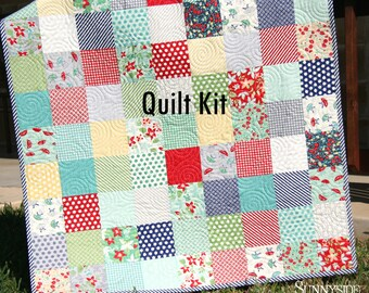 Gender Neutral Quilt Kit, Bonnie Camille April Showers Moda Fabrics Boy or Girl, Flowers oop htf Out of Print Hard to Find LAST THREE