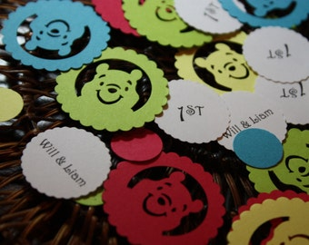 Personalize Winnie The Pooh Confetti 300 CT-Birthday Baby Shower- Choose Colors