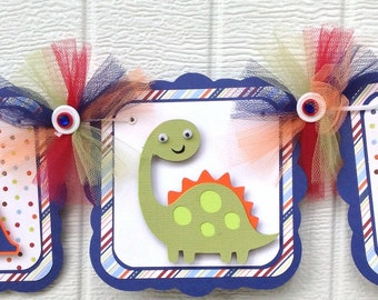 Dinosaur banner, it's a boy banner, baby shower banner, dinosaur baby shower, dinosaur decorations, blue and red decor, photo prop, SALE