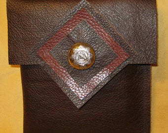 Upcycled Oxblood Leather Pouch SALE