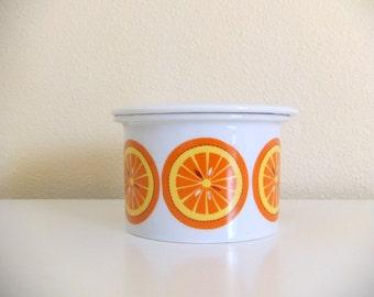 Arabia Finland Jam Jar with Lid, Oranges