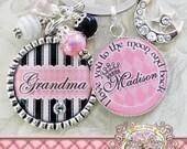Personalized I Love You To The Moon And Back Grandma Nana Mom, Mimi Key Chain,Custom Names, Children's Names, Bottle cap, Mother, Gift, Aunt
