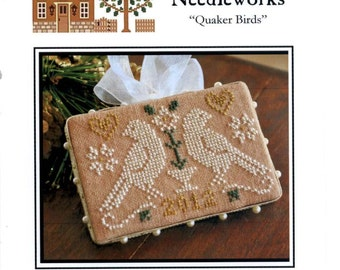 Little House Needleworks: Quaker Birds - 2012 Ornament of the Month No. 3 - Cross Stitch Pattern