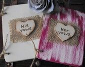 Set of Two HIS And HER Vow Books  Chic Ceremony  Write Your Own Vows