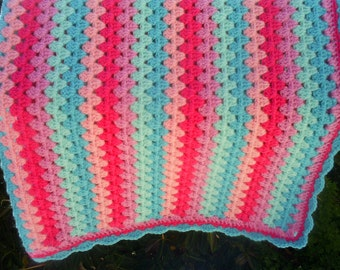 the granny stripe crochet baby blanket