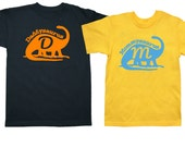 Set of 2 Mommysaurus Daddysaurus dinosaur Shirts - pick your colors!