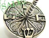 Artisan Filigree  Dreidel Hanukkah Game 925 Sterling Silver - Judaica - Free Shipping ID951
