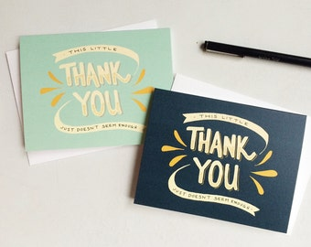 thank you just doesn't seem enough - folded greeting card set