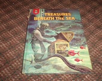 vintage hardcover childresn book treasures beneath the sea robert silverberg  1960