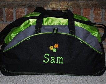 Personalized  Duffel Bag with a Design Custom Embroidered Gym bag Karate School Cheer Dance Gymnastics Monogrammed Logo Large Duffel Bag