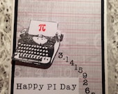 PI Day Card, Handmade, Mathmatics