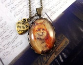 Vintage Style Fox Necklace - Antique Bronze Plated Jewelry
