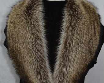 Real Genuine American Raccoon  detachable Fur Collar new made in usa