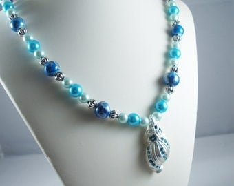 Blue Conch Shell Necklace