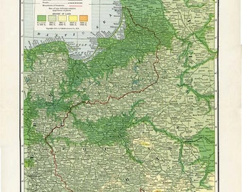 WESTERN RUSSIA and POLAND map - Nelson's Perpetual Loose-Leaf Encyclopedia Page