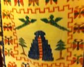 Aztec blanket vintage wool