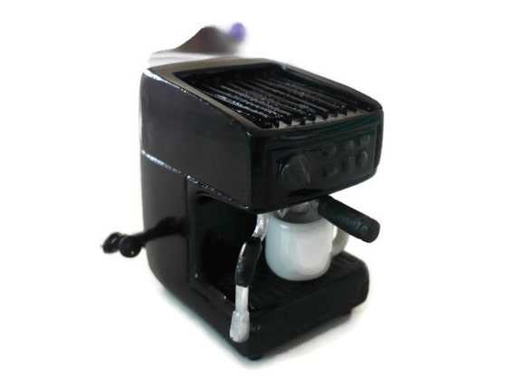Dollhouse Miniatures Coffee Maker Machine Black Kitchenware