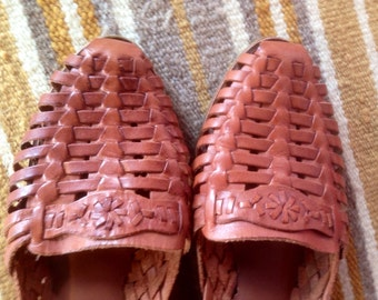Vintage woven leather shoes W8