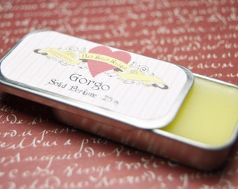 Solid Perfume - Gorgo - Perfume Crème Tin - Fig, Apple, Bergamot, Sage, Honey, Lily of the Valley, and Amber