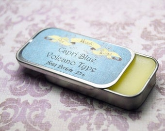 Capri Blue Volcano Type Solid Perfume - Perfume Crème Tin - Sweet Citrus and Tropical Greenery