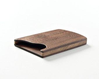 Wood business card holder - business card case - slim card wallet - groomsmen gift - card organizer - card case