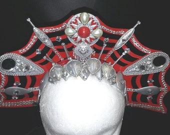 Red Gothic Queen Headdress
