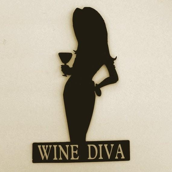 Winery,Wine,Sign,Metal Art,Bar,Home,Cocktail,Vineyard,Wine Diva,Female,Gift