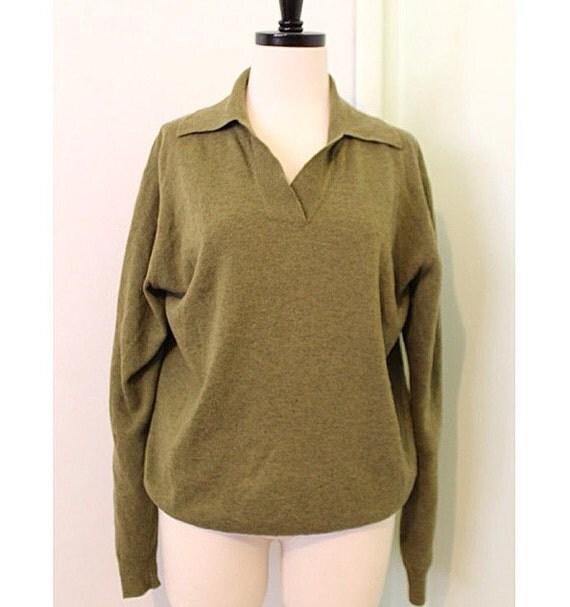 Green Wool Sweater