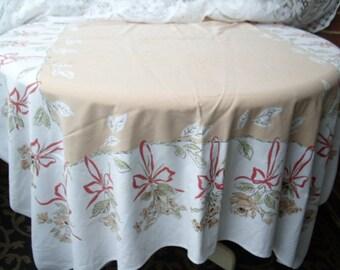 Tan Cotton Table Cloth