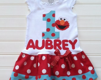 Custom Boutique Personalize Dress Number Dress Birthday Dress Girls Dress Baby Dresses Kids Girls Available in 0-3 months through Size 6/8