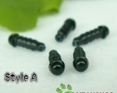 4mm Black Eyes Safety Eyes Plastic Doll Eyes Craft Eyes (BE4) - 10 Pairs
