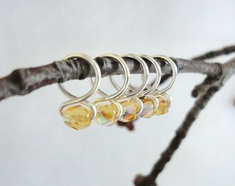 Honey - Snag Free Knitting Stitch Markers (Small) - Fit up to size 8 US (5.0 mm)