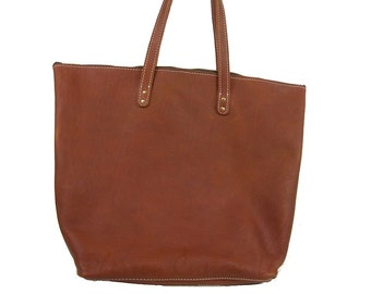 Leather Tote Bag, Purse Oil Tanned Tote