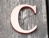 Reclaimed vintage letter - C - copper