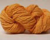 Thick and Thin Yarn Slub TTS Handdyed  Fine Merino 66tts13015 Creamsicle Orange