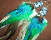 Feather Earrings- Walking in the Woods Feather Earrings- made to order