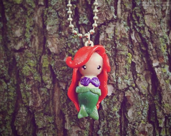 A Little Mermaid Chibi • Necklace/Keychain/Phone Charm/Earrings