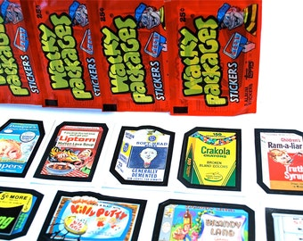 4 Wacky Packages Album Sticker Packs Topps 1986