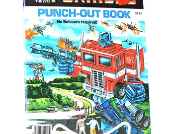 Transformers Punch Out Book Marvel 1985 Unused