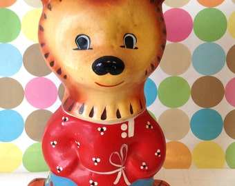 Vintage Wooden Bear