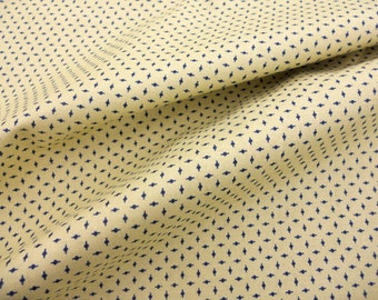 1 yard blue on tan shirting History Repeated (1870-1890) by Julie Hendricksen for Windham Fabrics