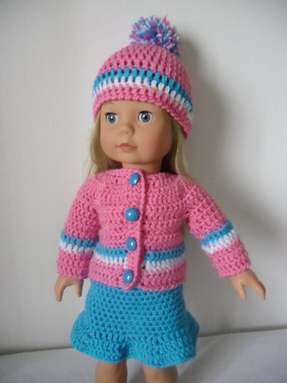 Crochet pattern pdf for 18 inch doll American Girl doll