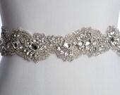 CRYSTAL wedding sash, wedding belt,  Bridal sash, wedding dress sash,