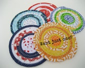 Coaster Individual Made to Order Handmade Coiled Fabric Drink Coaster