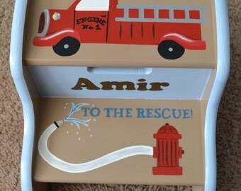 Fire Truck Step Stool, Children's Step Stool