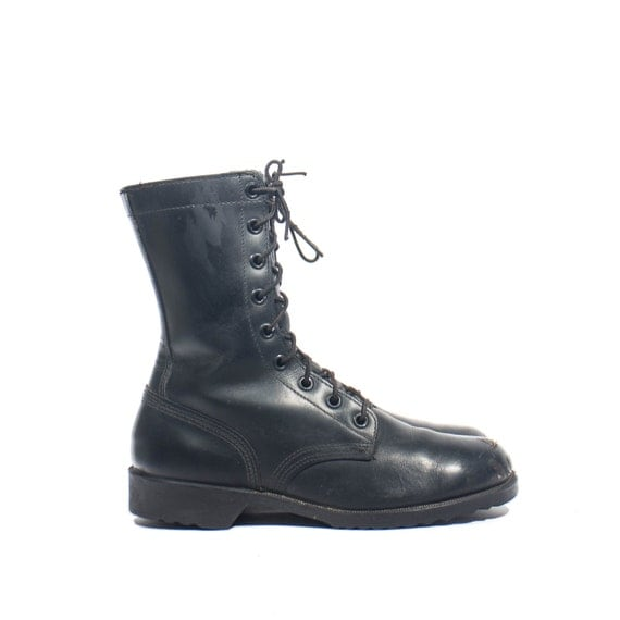 Men s combat boots standard issue 1970 s military lace up boot