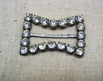 Vintage Jewel Quality Big White Rhinestone Buckle